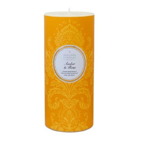 Amber & Rose Scented Pillar Candle - Shearer Candles